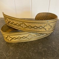 Pair of Gothic Gilt Metal Curtain Tie Backs