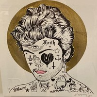 George Michael Hand Finished Gold Leaf Print A/P