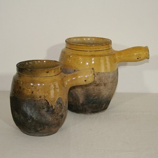 Pair of Provencal cooking pots