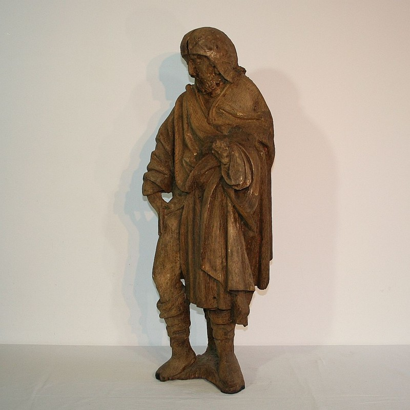 French Medieval Gothic Oak Statue Of Saint Roch-tresors-trouves-170484.2-main-636595573901006314.JPG