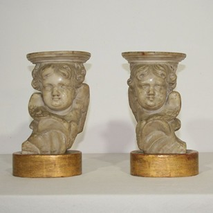 Marble baroque angels