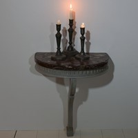 Small French 18th Century Marble top Console Table