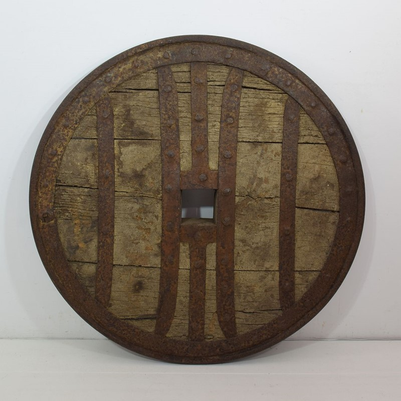 17th-18th Century Primitive Spanish Chariot Wheel-tresors-trouves-1900457-main-637331881061121076.JPG