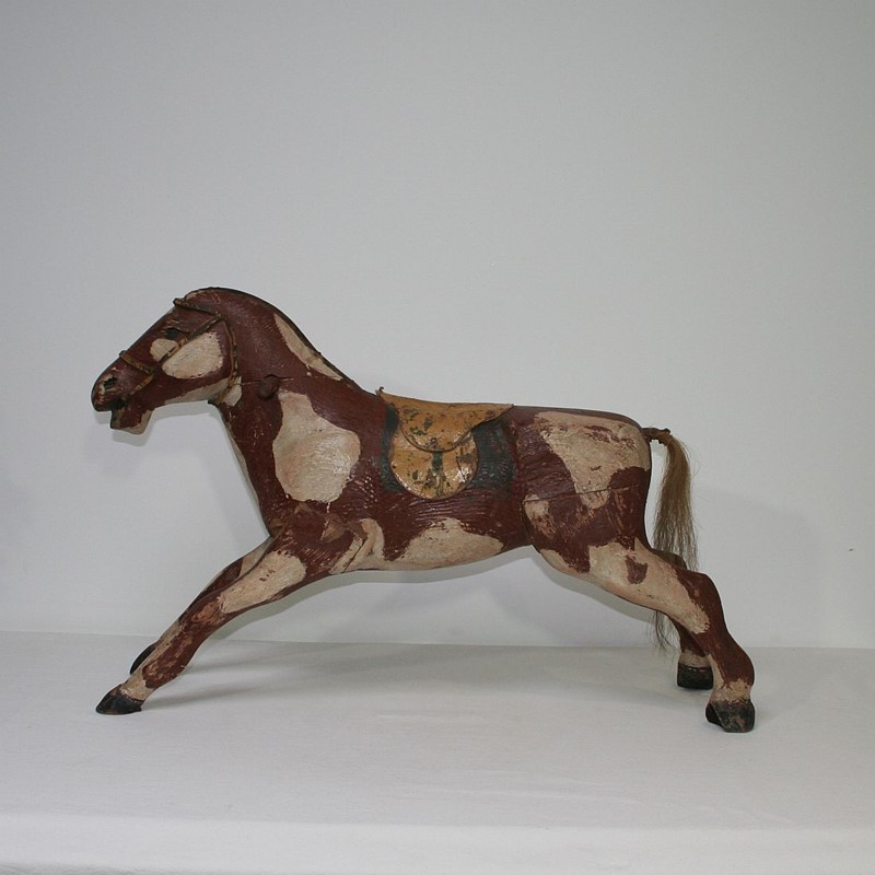 French 19th Century Carved Folk Art Wooden Horse-tresors-trouves-1900630-main-636929353554033568.JPG