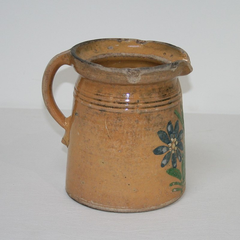 19th Century French Glazed Earthenware Alsace Jug-tresors-trouves-1900742-main-636929062160845170.JPG