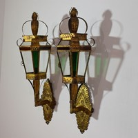 Early 20th Century Spanish Metal Wall Lanterns