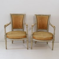 18th Century French Pair of Directoire Chairs
