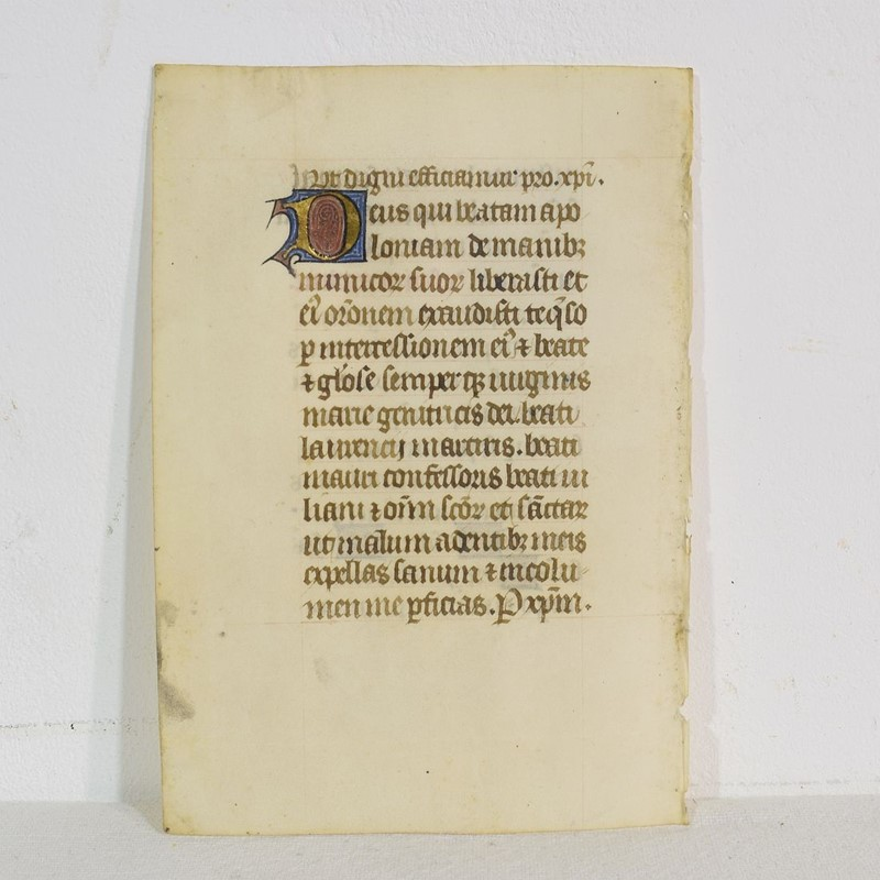 Small 15th Century Illuminated Vellum Book Page-tresors-trouves-1904220-main-637303144985263024.JPG