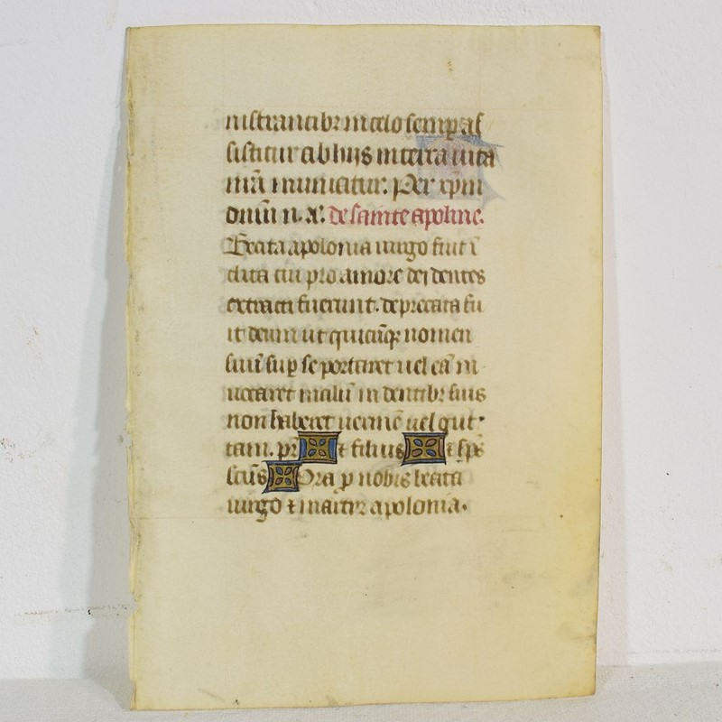 Small 15th Century Illuminated Vellum Book Page-tresors-trouves-1904221-main-637303145325106557.JPG