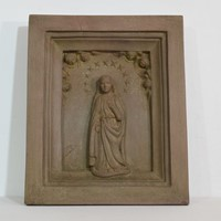 18th-19th Century Sandstone Panel with a madonna