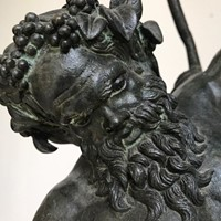 Antique bronze statue of Silus