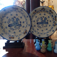 Pair of 18th Century Majolica Chargers