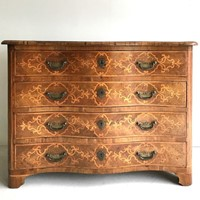 Impressive 18thC serpentine Italian commode