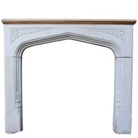 Gothic Style Limestone Fire Surroud