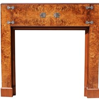 Art Deco Burr Walnut Fire Surround