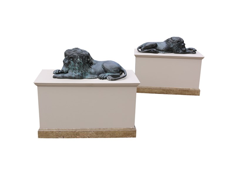 Bronze Lions In The Manner Of  Antonio Canova-uk-heritage-19386-3-main-636869593253406528.JPG