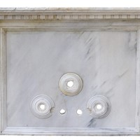 Antique Carrara Marble Wall Fountain
