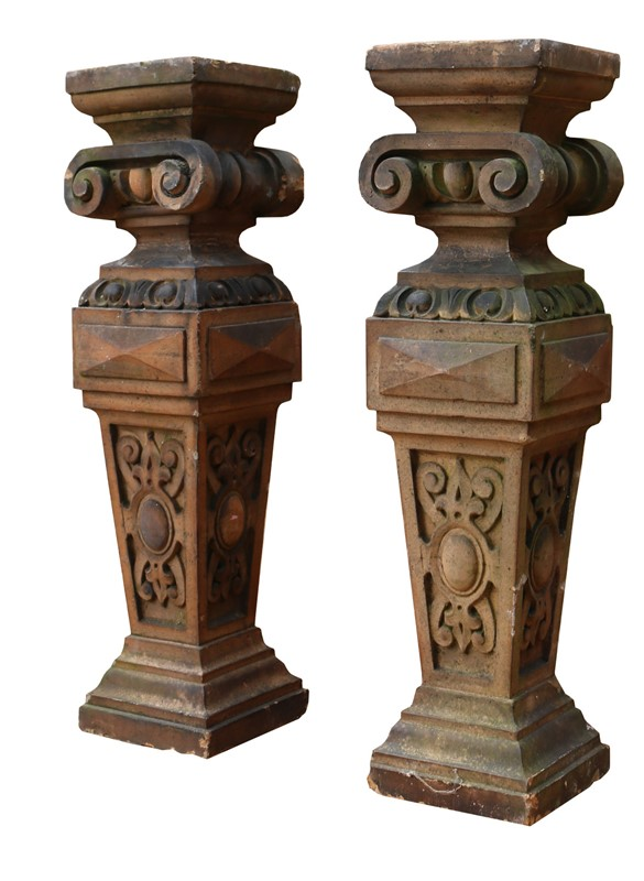 Pair Of Antique Terracotta Plinths / Lamp Bases-uk-heritage-22204-2-main-637003392209798802.JPG