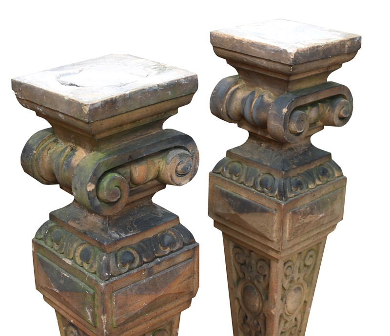 Pair Of Antique Terracotta Plinths / Lamp Bases-uk-heritage-22204-3-main-637003392216517142.JPG