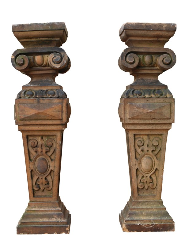 Pair Of Antique Terracotta Plinths / Lamp Bases-uk-heritage-22204-main-637003392037924831.JPG