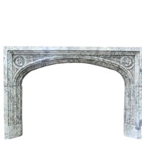 19th Century Maurin Green Marble Fire Surround