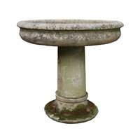 Reclaimed York Stone Bowl On Stand