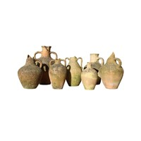 Group Of Seven Mediterranean Storage Jars
