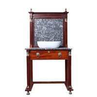 Antique English Wash Stand With Basin