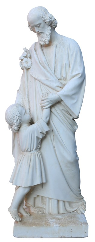 Antique Plaster Sculpture / Statue Of St. Anthony-uk-heritage-25247-16-main-636882409683100655.JPG