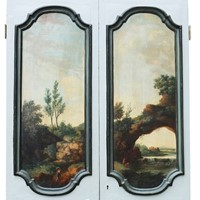 Antique Doors Painted With Classical Scenes