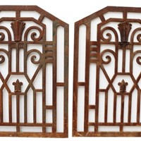 Art Deco Cast Iron Panels