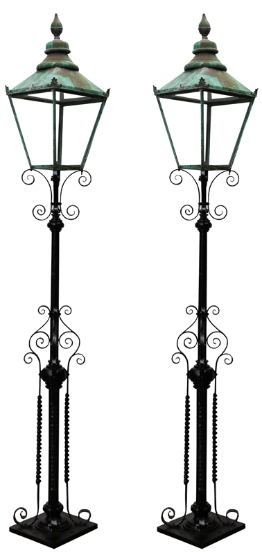 Pair Of Antique Reclaimed Lamp Posts-uk-heritage-27781-112-main-637012065059278203.png