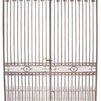 Large Antique Wrought Iron Entrance Gates