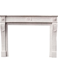 Louis Xvi Style Carrara Marble Fire Surround