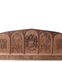 Antique Carved Oak Over-mantle Or Headboard