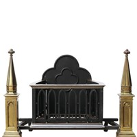 Antique Gothic Style Fire Grate
