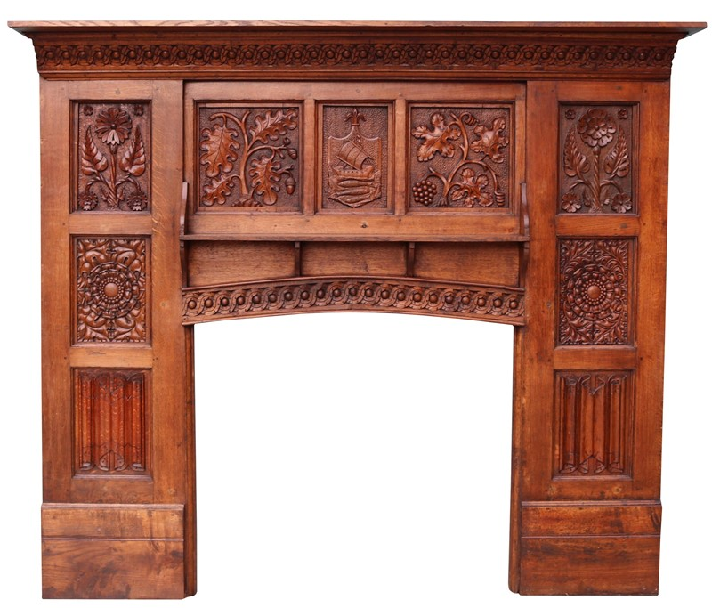 English Arts & Crafts Style Carved Oak Fireplace-uk-heritage-29070-100001-main-637184125937841731.JPG