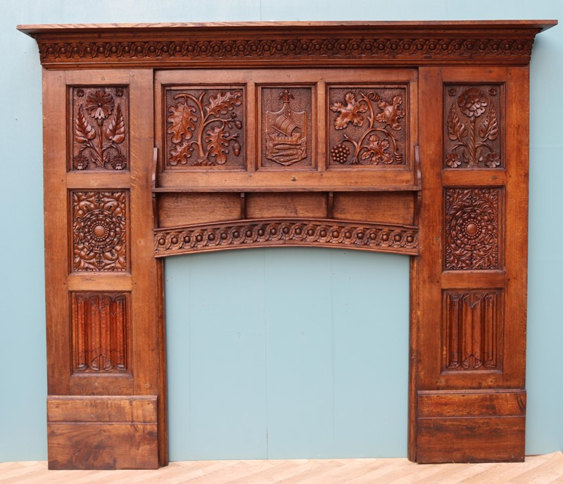 English Arts & Crafts Style Carved Oak Fireplace-uk-heritage-29070-100002-main-637184126322198454.JPG