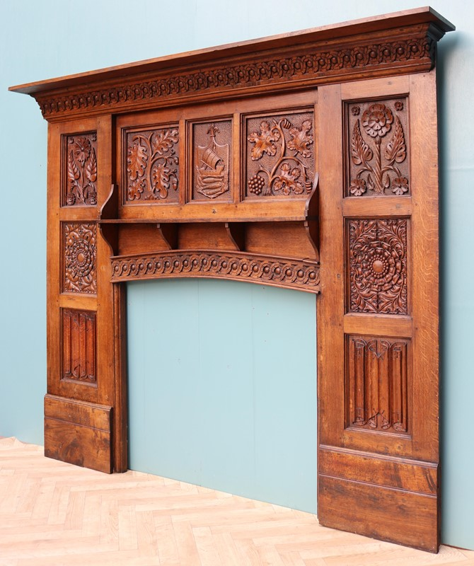 English Arts & Crafts Style Carved Oak Fireplace-uk-heritage-29070-100012-main-637184126651884232.JPG