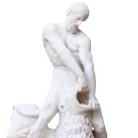 Classical Marble Statue Of Hercules