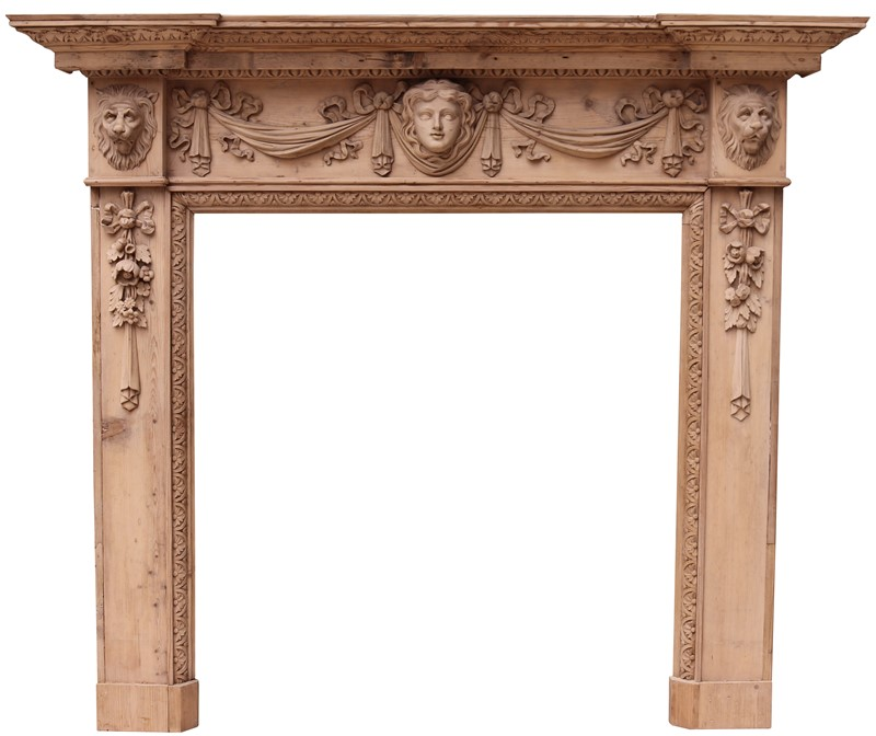 An Antique Carved Pine Fire Surround in The Style -uk-heritage-30032-13-main-637232393598565233.JPG