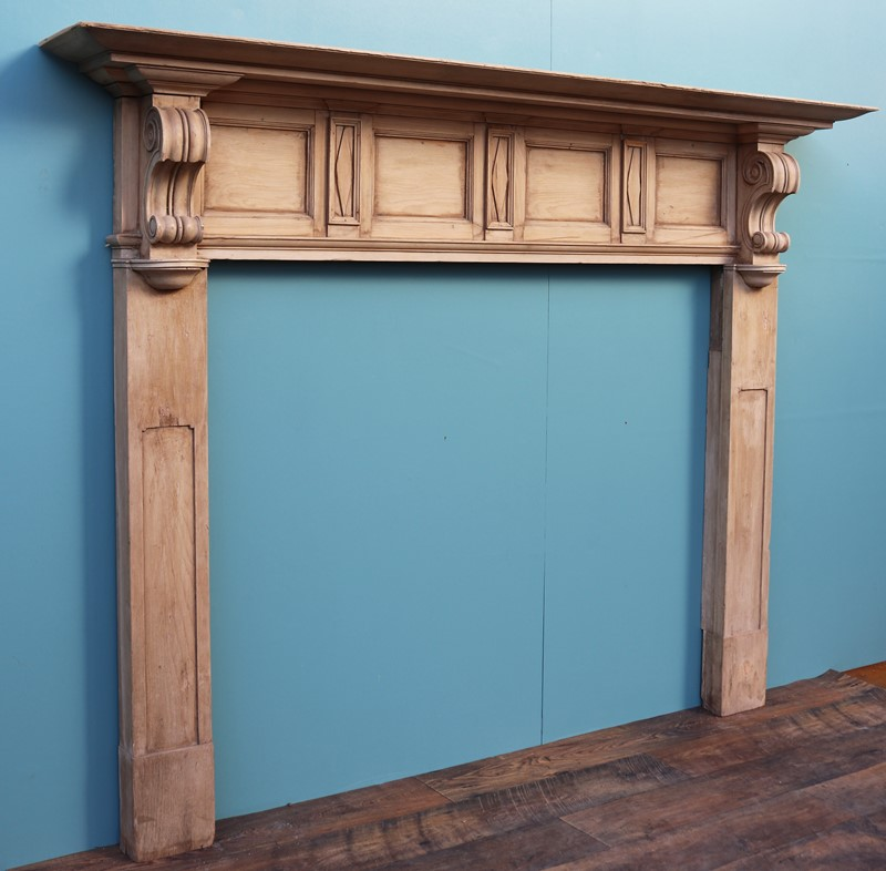An Antique Victorian Style Carved Pine Fire Surrou-uk-heritage-30048-14-main-637233342746745149.JPG