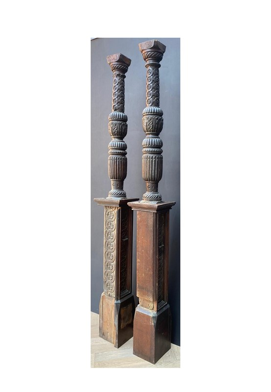 A Pair of Tudor Period Carved Oak Bed Posts-uk-heritage-30108-14-main-637248941034503694.JPG