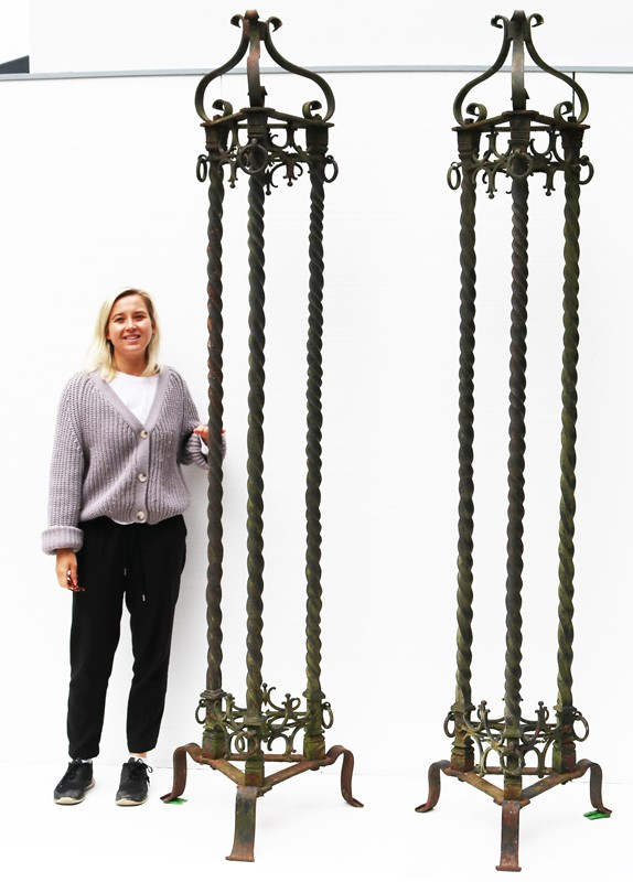 A Pair of Antique Wrought Iron lamp standards 8ft -uk-heritage-3017615-main-637275651320238261.JPG