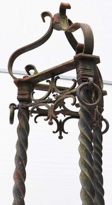 A Pair of Antique Wrought Iron lamp standards 8ft -uk-heritage-3017617-main-637275651366644710.JPG