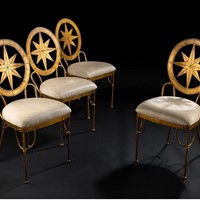 Four Italian gilded chairs c1960s