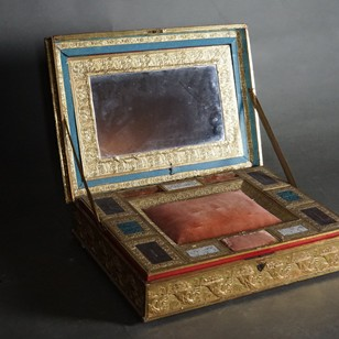 18th Century Papier-Mâché Set Box