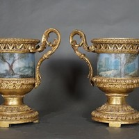 Excellent pair of carved vases Rome 1780