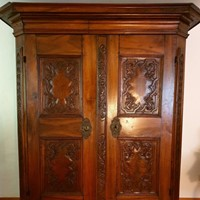 A southgerman walnut cupboard of late 18th