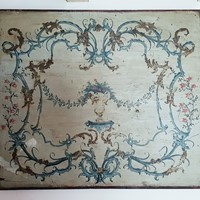 French painted antique panel